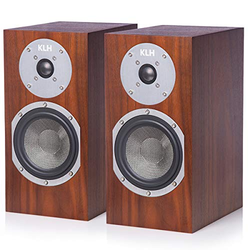 KLH Albany 2-Way Bookshelf Speakers - Pair (Walnut)