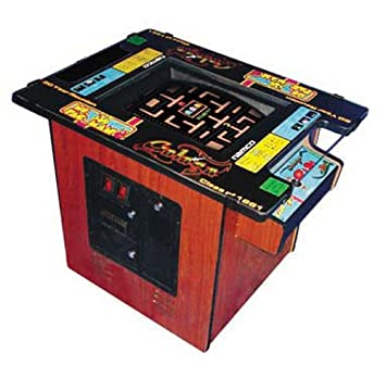 Pacman Table Game >> Ms Pac Man Galaga Classic Cocktail Table Arcade Game With 19 Inch