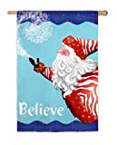 Evergreen Believe in Santa House Flag 29″ X 43″ For Sale