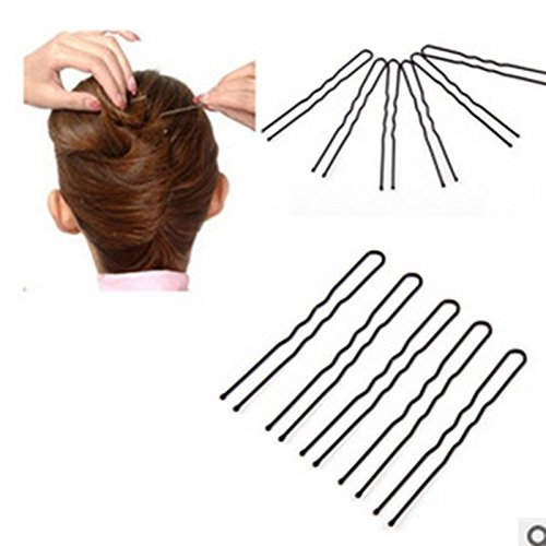 MAXGOODS Metal Chick Hair Pin Barrette U Shaped Clip Single Prong ,100PCS