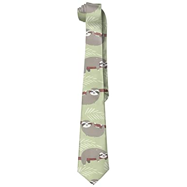 Fashion Corbatas Tie Sloth Playing Gentlemen Casual Corbata for ...