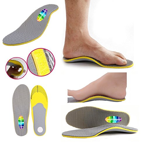 CrazyGadget® Orthotic High Arch Support Comfort Foot Massage Heel Cushion Comfort Shoe Trainer Boots Insoles Pad (1 Pair) - Unisex (3 - 7)