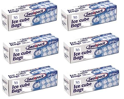 6/X Sealapack Ice Cube Sacs cong/élation 30/Sacs rend 800/Cubes de glace 28/Cubes par Sac
