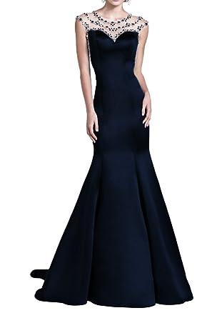 La Mariee Mermaid Sweetheart Sweep Train Satin Prom Dress With Beading 2016 New-2-