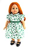 "Lucky Clover Dress| Fits 18"" American Girl Dolls, Madame Alexander, Our Generation, etc"