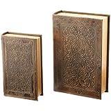 2pc Faux Book Safe Set
