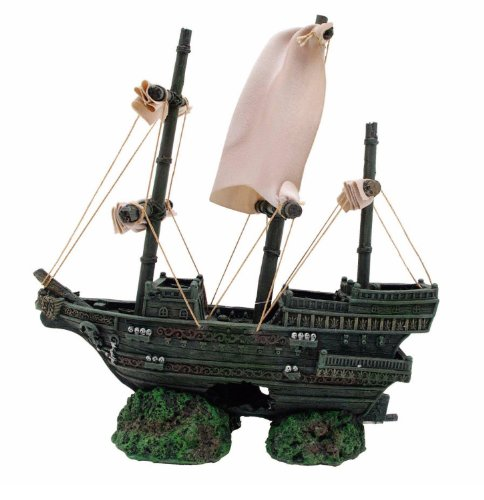 Marina Sunken Ship Betta Aquarium Decor -