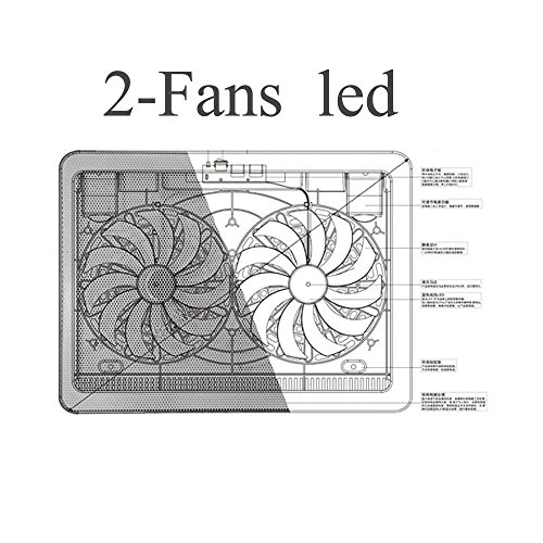 17inch Stand Silent for Notebooks Fan with Luxury Gold Color Laptop Cooling Pads