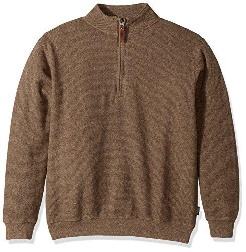 Woolrich Men's Bromley Half Zip Sweater, Wheat Heather, Medium