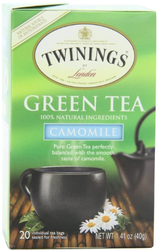 Twinings Green & Camomile Tea, 1.41-Ounce Boxes (Pack of 6)