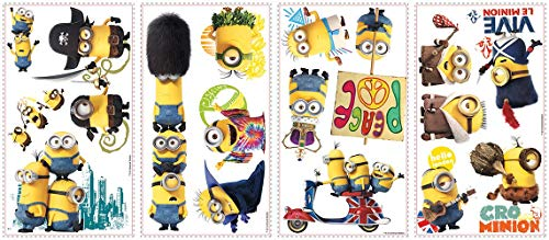 Minion Wall Decals (RoomMates Minions The Movie Peel and Stick Wall)