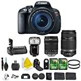 Canon EOS Rebel T5i 18.0 MP CMOS Digital SLR Camera + Canon EF-S 18-135mm IS STM + Canon 55-250mm STM + Dedicated Flash + Multi Battery Power Grip + 2pc 32GB Memory Cards + Camera Backpack