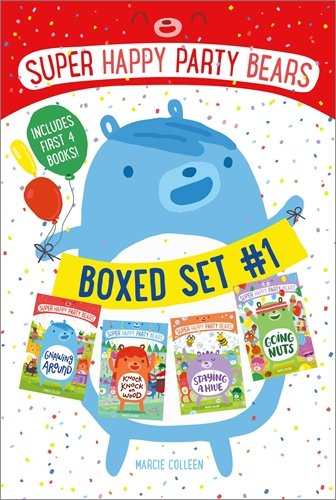 Super Happy Party Bears Boxed Set #1: Gnawing Around; Knock Knock on Wood; Staying a Hive; Going Nuts (Super Nut)
