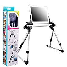 """Tablet&Phone Bed Stand, Peyou® Multi-Angle Adjustable Tablet & Phone Aluminum Folding Stand For iPhone 7/7 Plus 6S/6S Plus 6/6 Plus SE/5S/5/5C, Samsung Galaxy S7/S7 Edge S6/S6 Edge/S6 Edge Plus, iPad Pro 9.7""""/iPad Pro 12.9"""", iPad Mini 1/2/3/4, iPad Air 1/2 And Other Devices Width Within 9.4 Inch"""
