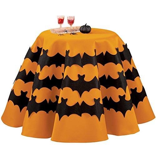 [Halloween Bat Tablecloth] (Spirit Halloween Return Policy)