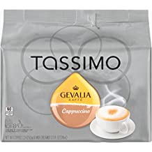 Tassimo GEVALIA Cappuccino, 16 Count T-Discs (8 Espresso + 8 Milk Creamers)