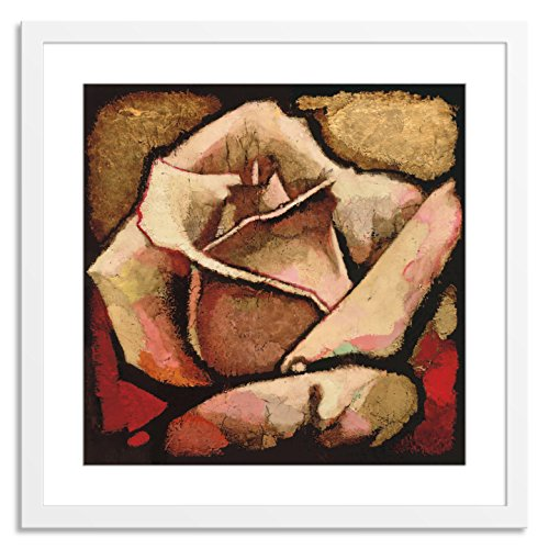 Gallery Direct Rose Study II Artwork by Arthur Albin on Paper with White, Clean and Simple Frame, 42