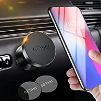 GETIHU Car Phone Mount Universal Dashboard Magnetic Cell Phone Holder for iPhone X 8 7 6s 6 5s 5 Plus Samsung HTC Motorola BlackBerry Smartphone GPS …