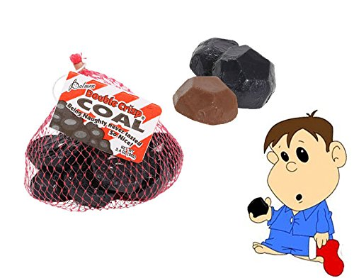 Being Naughty Never Tasted So Nice! Doulbe Crisp Chocolate Lumps Of Coal Stocking Stuffers! (set of (Nice Crisp)