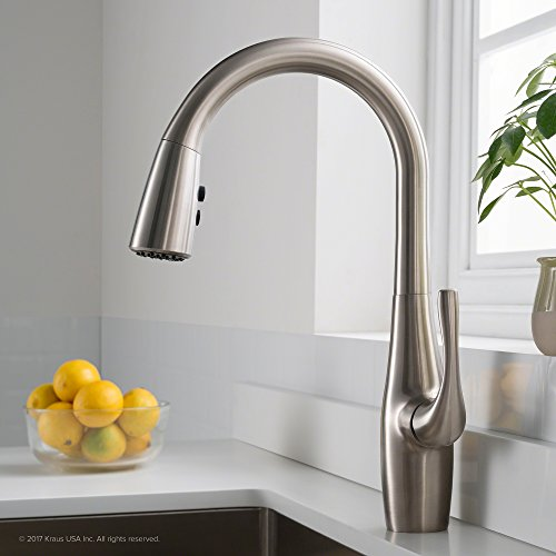 For Sale! KRAUS KPF-1670SFS Esina Single Handle Pull Down Kitchen Faucet with Dual Function Sprayhea...