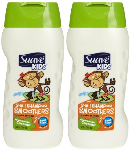 Suav Kid 2in1 Conut Smoot Size 12z (Hair Smoothers 2in 1 Shampoo)