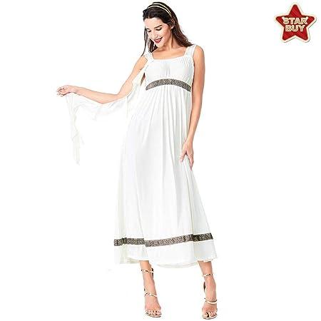 COSOER Traje De Cosplay De La Diosa Griega Vestido Blanco De ...