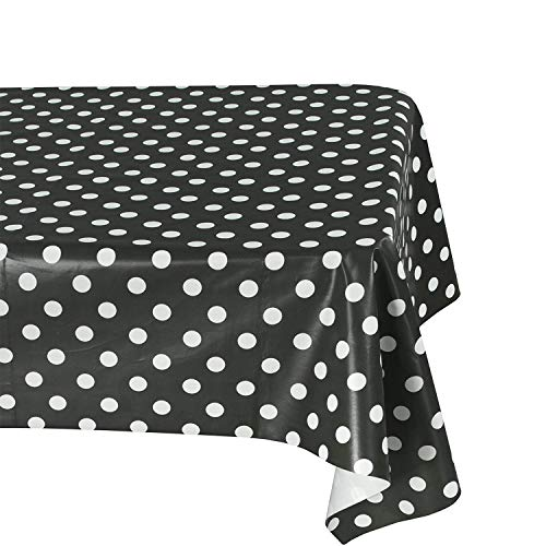 Salsell 3-Pack Polka Dot Tablecloth Polka Dot Plastic Tablecloth 54
