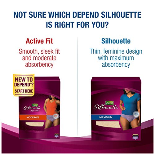 Depend Silhouette Incontinence Underwear for Women, Maximum Absorbency, S/M, Beige by Depend (Image #9)