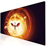 Imegny Extended Gaming Mouse Pad, Mouse Mat for High DPI Professional Gaming Quality (Type1 35.415.7Inch, huoniao020)