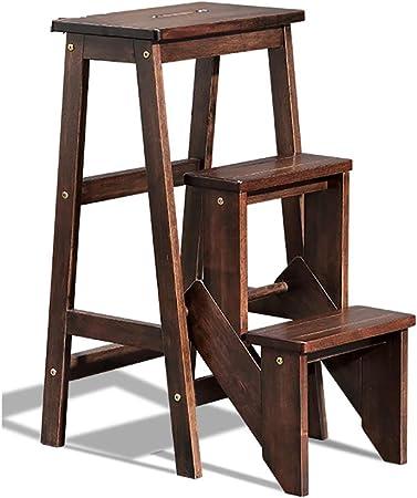 Taburete plegable de 3 niveles Silla de escalera multifuncional Asiento de banco Utilidad, sillas de escalera plegables para adultos y niños Escalera de interior Banco de zapatos portátil / Estante: Amazon.es: Hogar