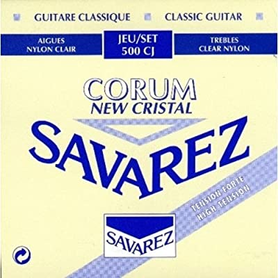 Savarez 500CJ Corum Cristal Classical Guitar Strings, High Tension, Blue Card