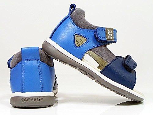 Garvalín 172334 - Sandalias infantil niño Jeans y azul electrico belcro doble