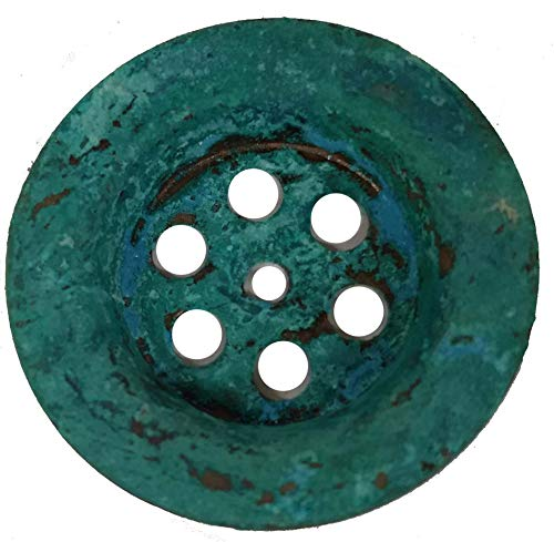 Standard Green Patina Copper Sink Strainer Drain Hole Cover 1.50
