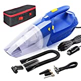 Car Vacuum, NFYOI Car Vacuum Cleaner Portable Handheld Vacuum for Car, DC 12V 150W Strong Suction Wet Dry Auto Vacuum with LED Light & Air Compressor & Tire Pressure Gauge Function, 16.4ft Power Cord