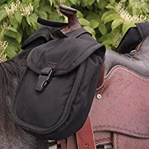 Cashel Quality Deluxe Small Horse Saddle Pommel Horn Bag, Padded Pockets, Camera or Cell Phone Pocket, 600 Denier Material, Size: Small Color Choice: Black, Brown or Camo