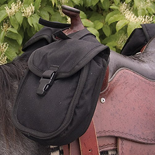 Cashel Quality Deluxe Small Horse Saddle Pommel Horn Bag, Padded Pockets, Camera or Cell Phone Pocket, 600 Denier Material, Size: Small Color: - Horn Western