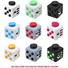 Fidget Anti-Anxiety Cube Helps Focusing Fidget Toy [3D Figit] Premium Quality EDC Focus Toy for Kids & Adults Best Stress Reducer Relieves ADHD Anxiety and Boredom Toy