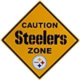 NFL Pittsburgh Steelers Caution Wall Sign Plaque, 14″