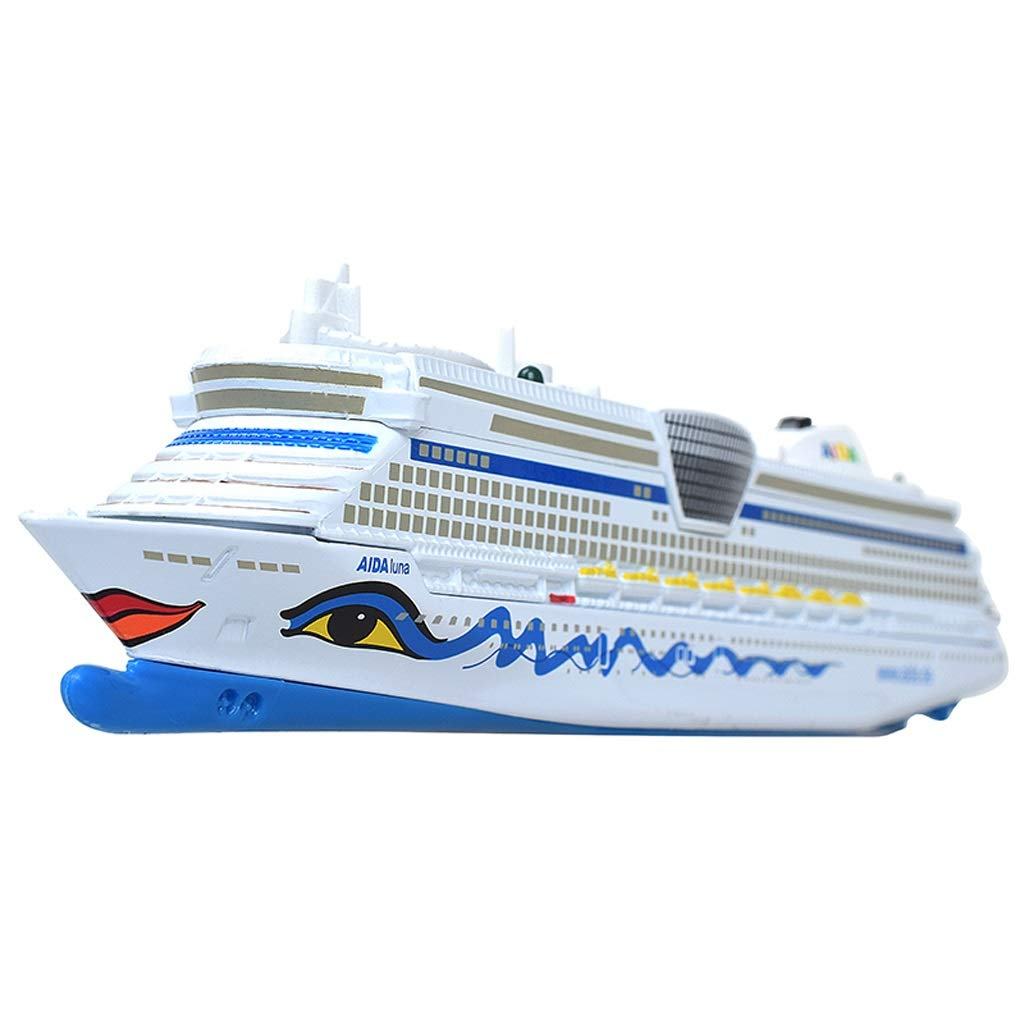 SHLIN-Car model Die Casting Car Engineering Vehicle Model Alloy Car Model Cruise Ship Speed Boat Children's Cruise Toy Gifts for Kids (Color : Car Model)