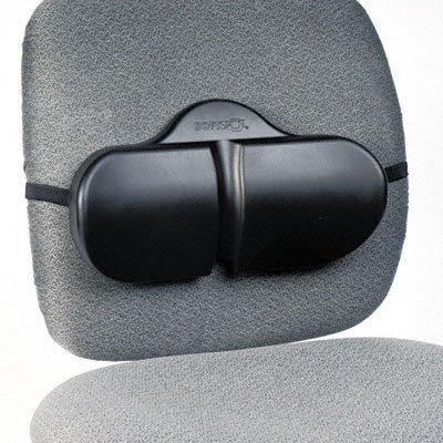 o Safco o - Softspot Lumbar Roll Backrest, 13-1/8w x 2-1/2d x 8h, Black