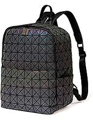 DIOMO Geometric Women Backpack Holographic Diamond Laptop School Bag