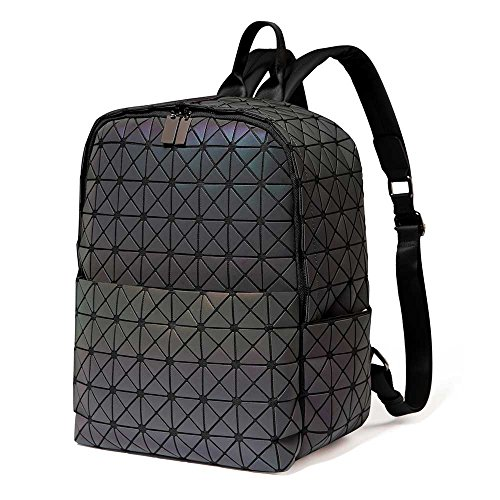 DIOMO Geometric Backpack Holographic Large Capacity Laptop School backpack (Luminous A style, (Large Luminous)
