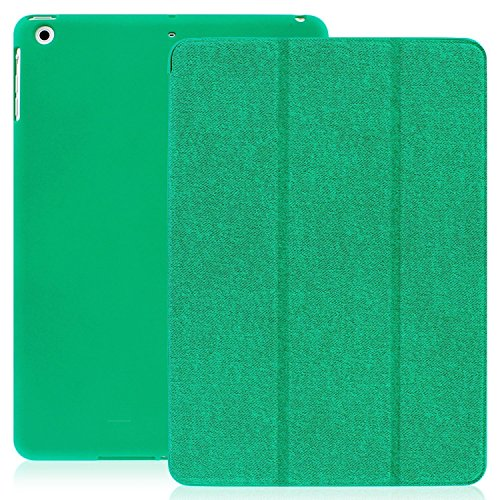 (KHOMO iPad Air 1 Case - Dual Twill Green Super Slim Cover with Rubberized Back and Smart Feature (Built-in Magnet for Sleep/Wake Feature) for Apple iPad Air 1st Gen. Tablet)
