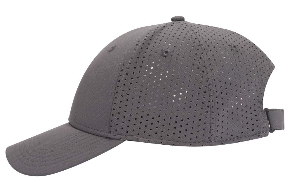 Otto UPF 50+ Cool Comfort Stretchable Knit Perforated Back 6 Panel Low Profile Baseball Cap - Char. Gray