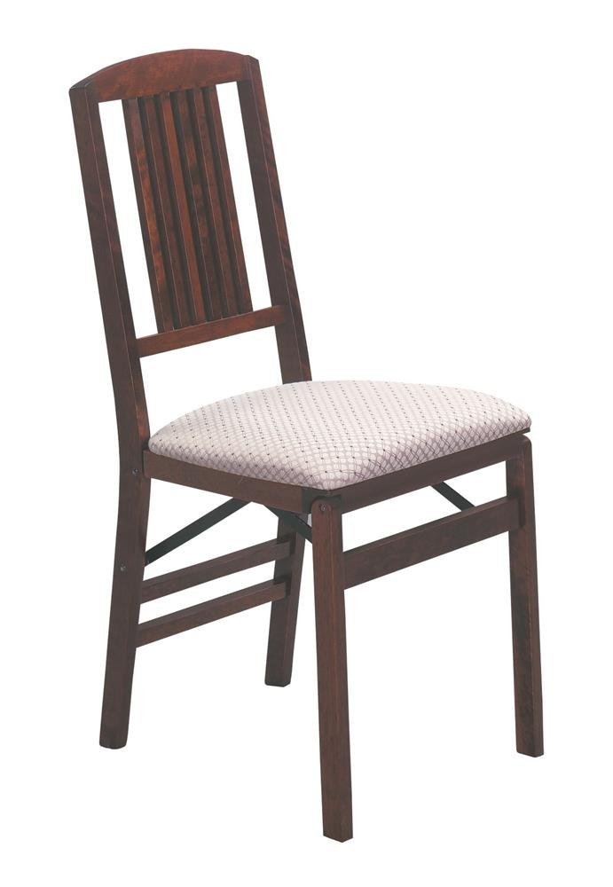 amazoncom simple mission folding chair in warm cherry finish set of 2 chairs