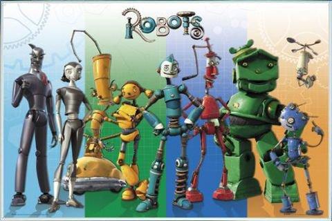 1art1 Robots Póster con Marco (Plástico) - Cast (91 x 61cm ...