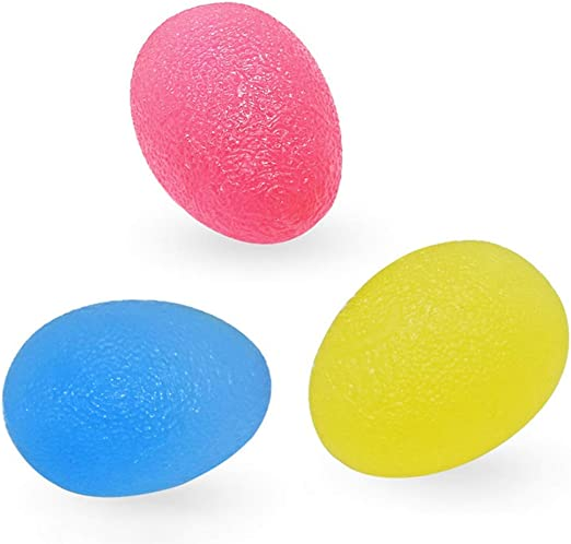 Fishyu 3Pcs / Set Gel Egg Stress Pelota Hand Ejercicio Dedo Relax ...