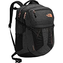 The North Face Women's Recon Backpack - black heather/burnt coral metallic, one size