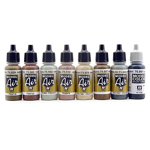 Vallejo Acrylic Paint Set For Weathering Locomotives