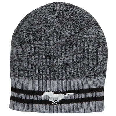 Ford Genuine Mustang Striped Knit Beanie Winter Cap Hat The Ford Merchandise Store